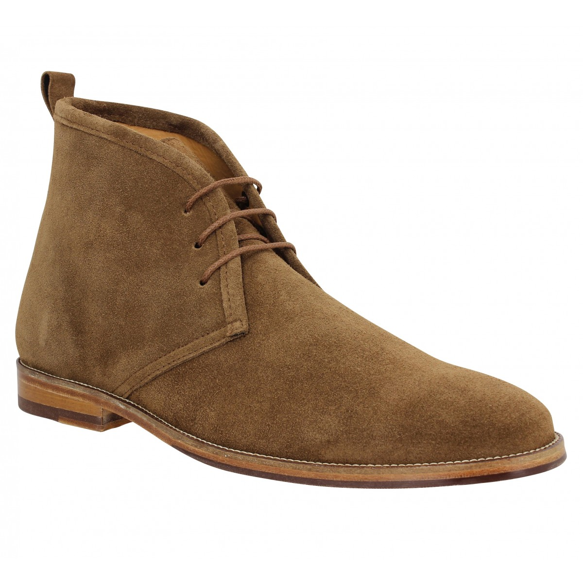 Bottines BOBBIES Le Monsieur velours Homme Brun