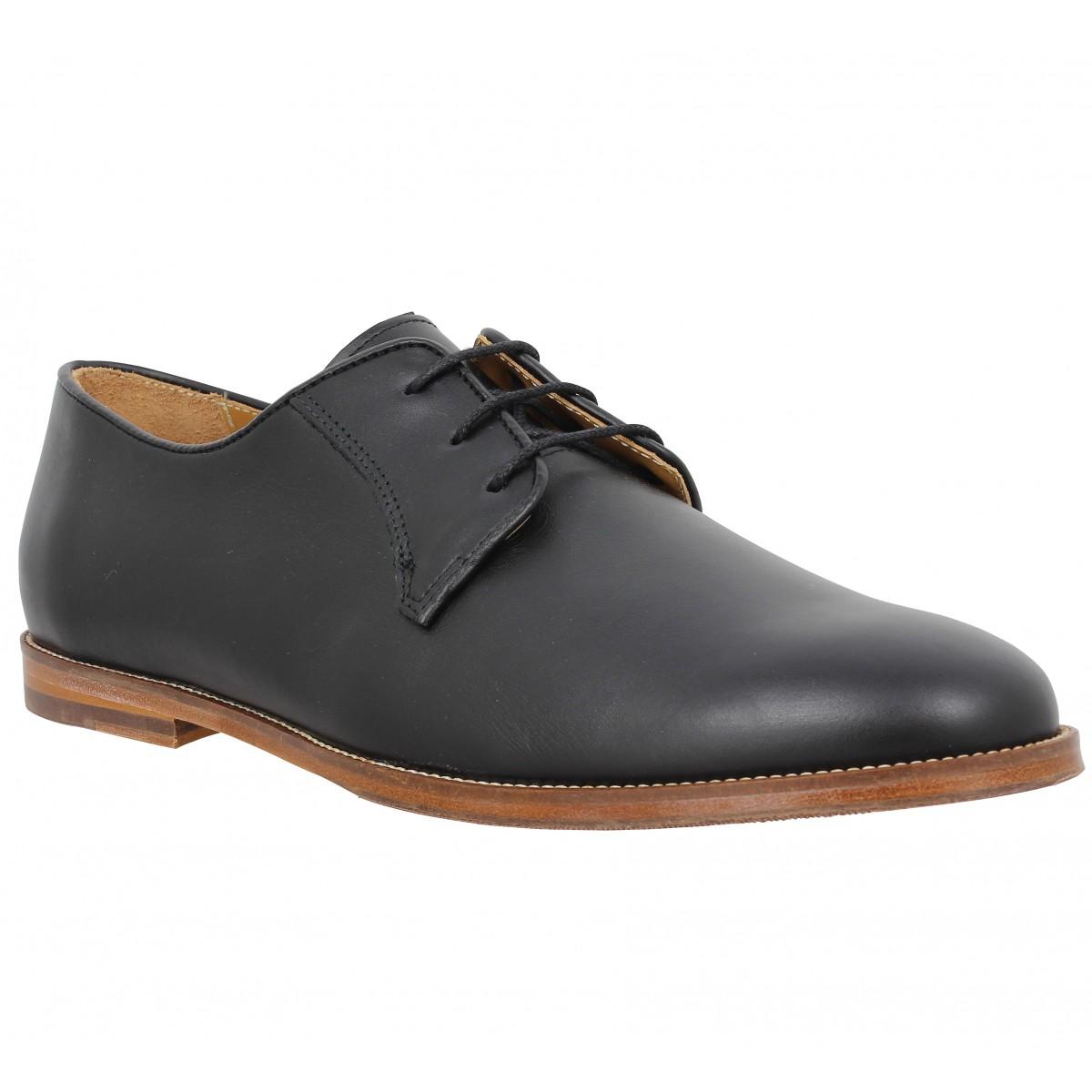 Chaussures à lacets BOBBIES Le Photographe cuir Homme Noir
