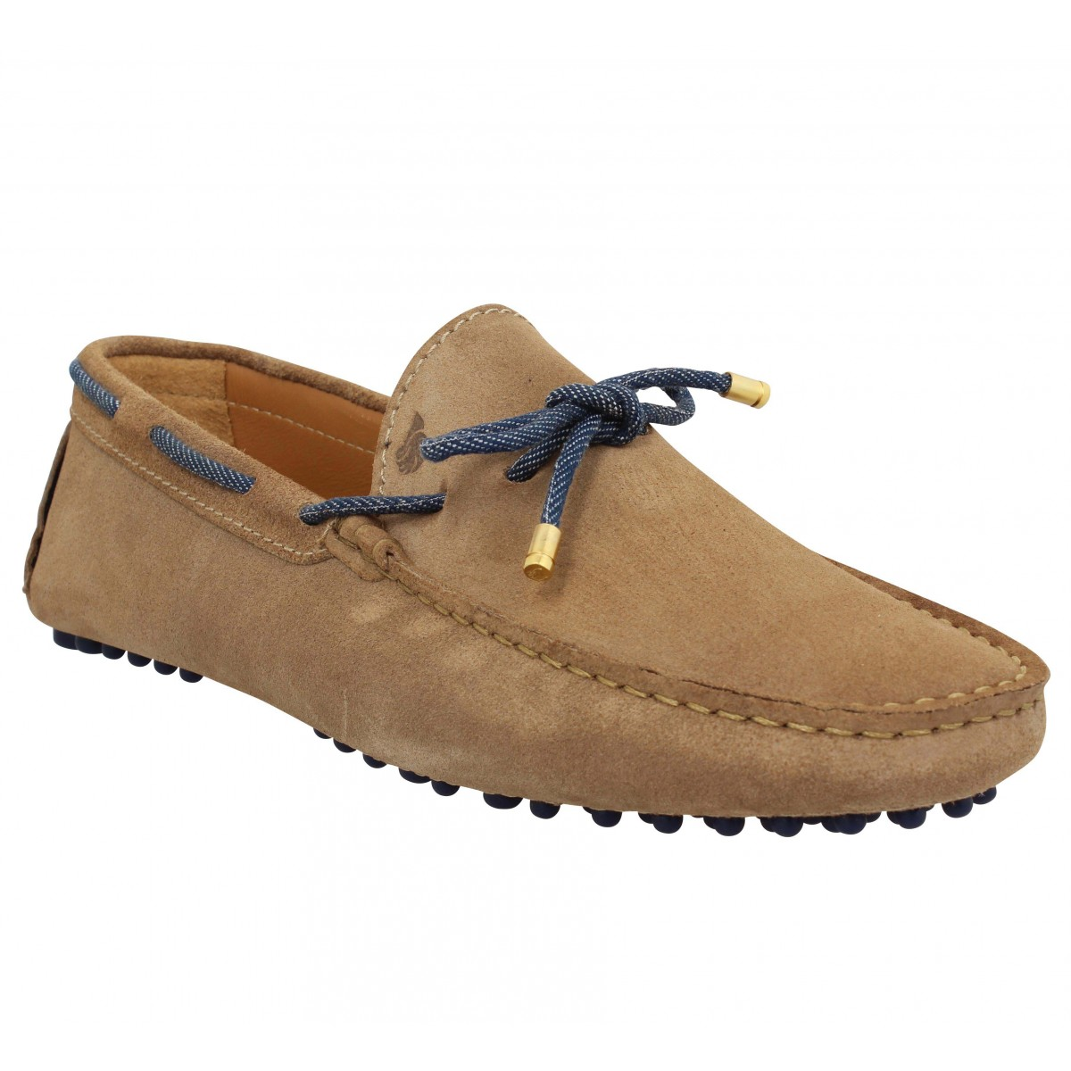 Mocassins BOBBIES Le Reveur velours Homme Antilope