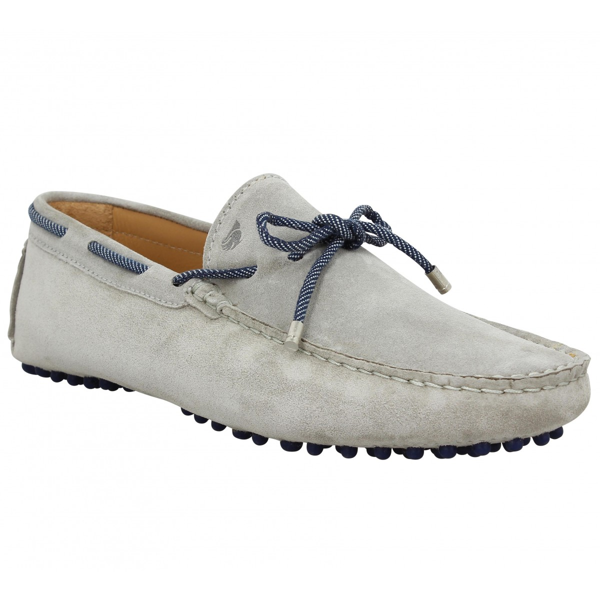 Mocassins BOBBIES Le Reveur velours Homme Gris