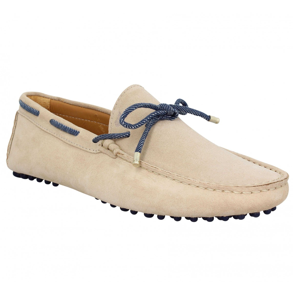 Mocassins BOBBIES Le Reveur velours Homme Sable