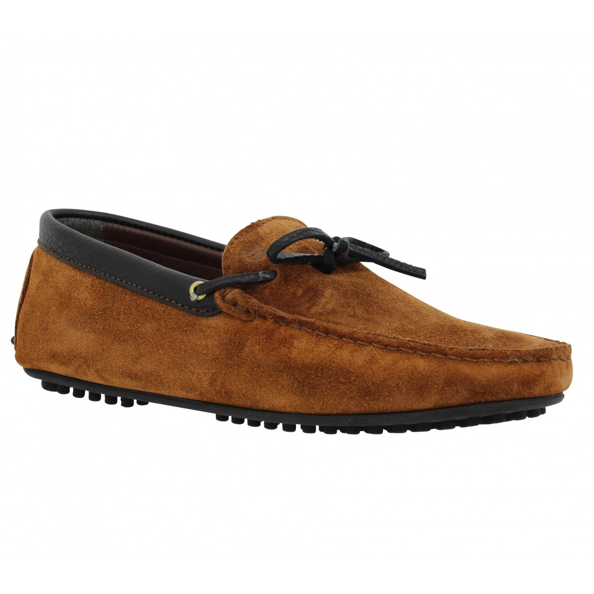 Mocassins BOBBIES Le Tombeur velours Homme Fauve