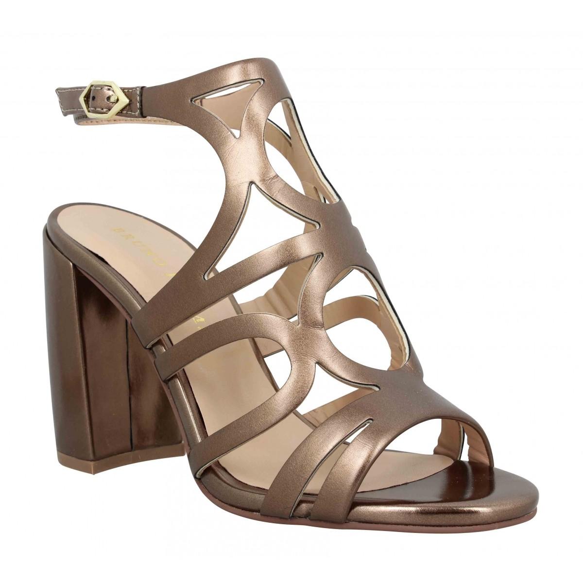Sandales talons BRUNO PREMI 300 cuir Femme Bronze