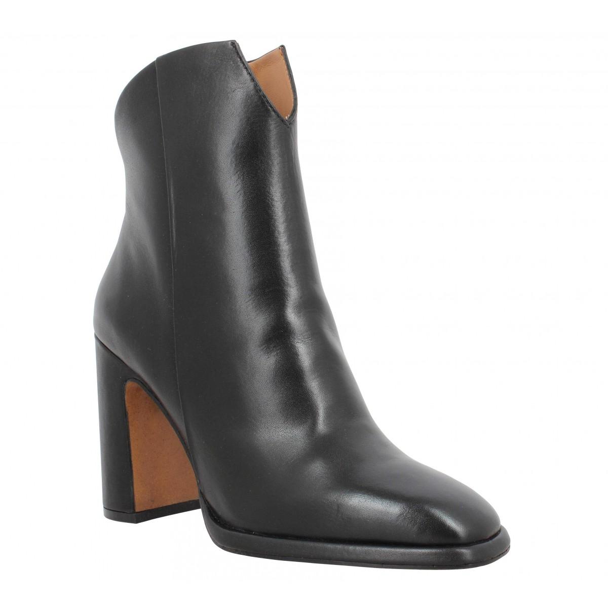 Bottines BRUNO PREMI 3301 cuir Femme Noir