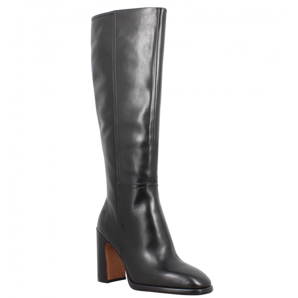 Bottes BRUNO PREMI 3305 cuir Femme Noir