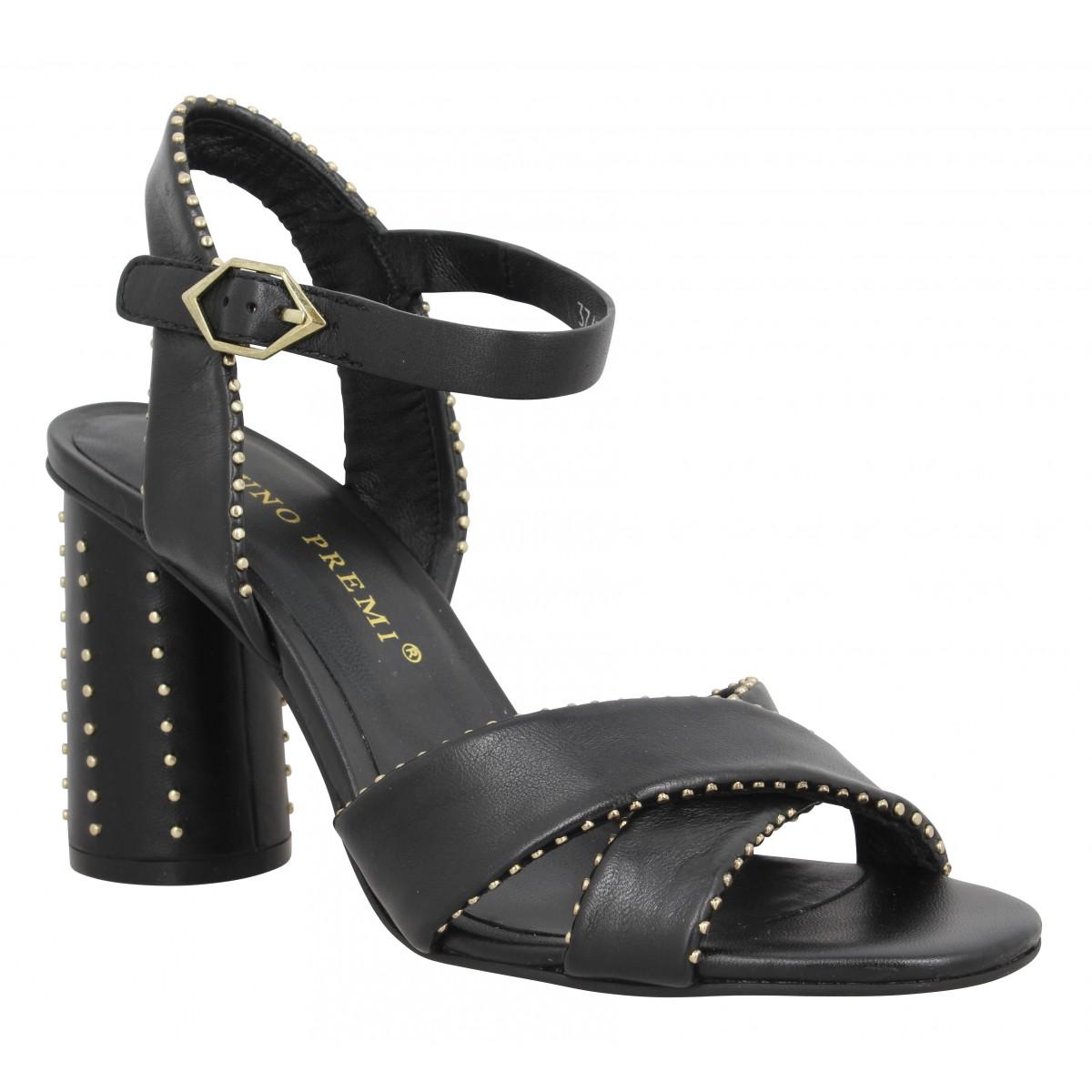 Sandales talons BRUNO PREMI 340 cuir Femme Noir