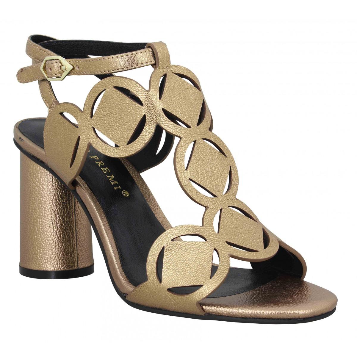 Sandales talons BRUNO PREMI 347 cuir Femme Bronze