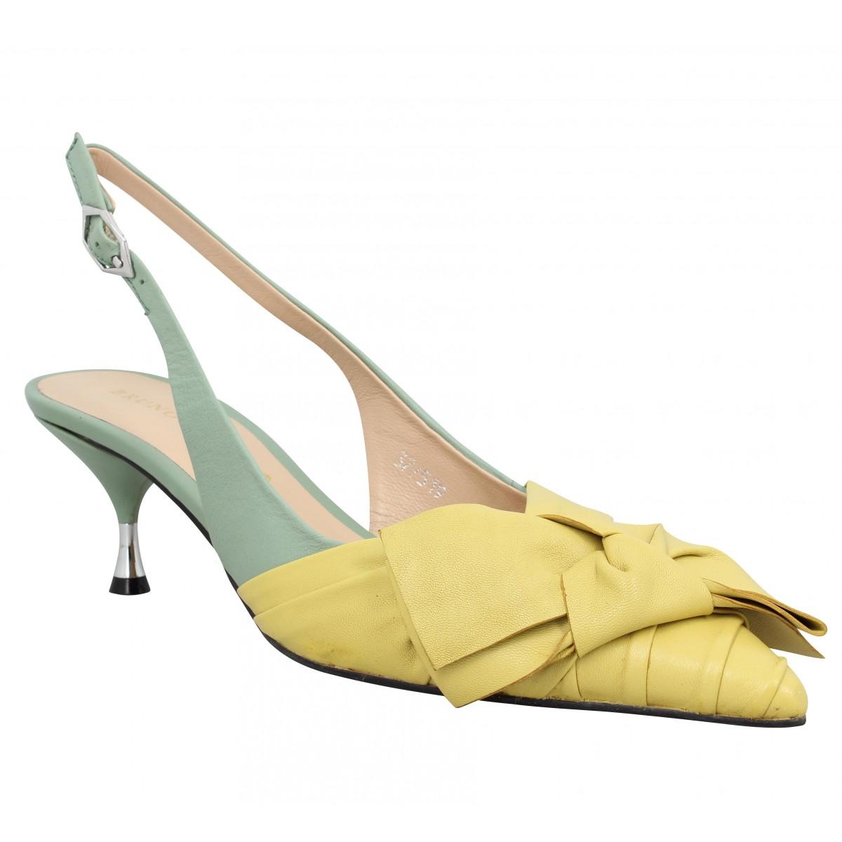 Sandales talons BRUNO PREMI 440 cuir Femme Vert