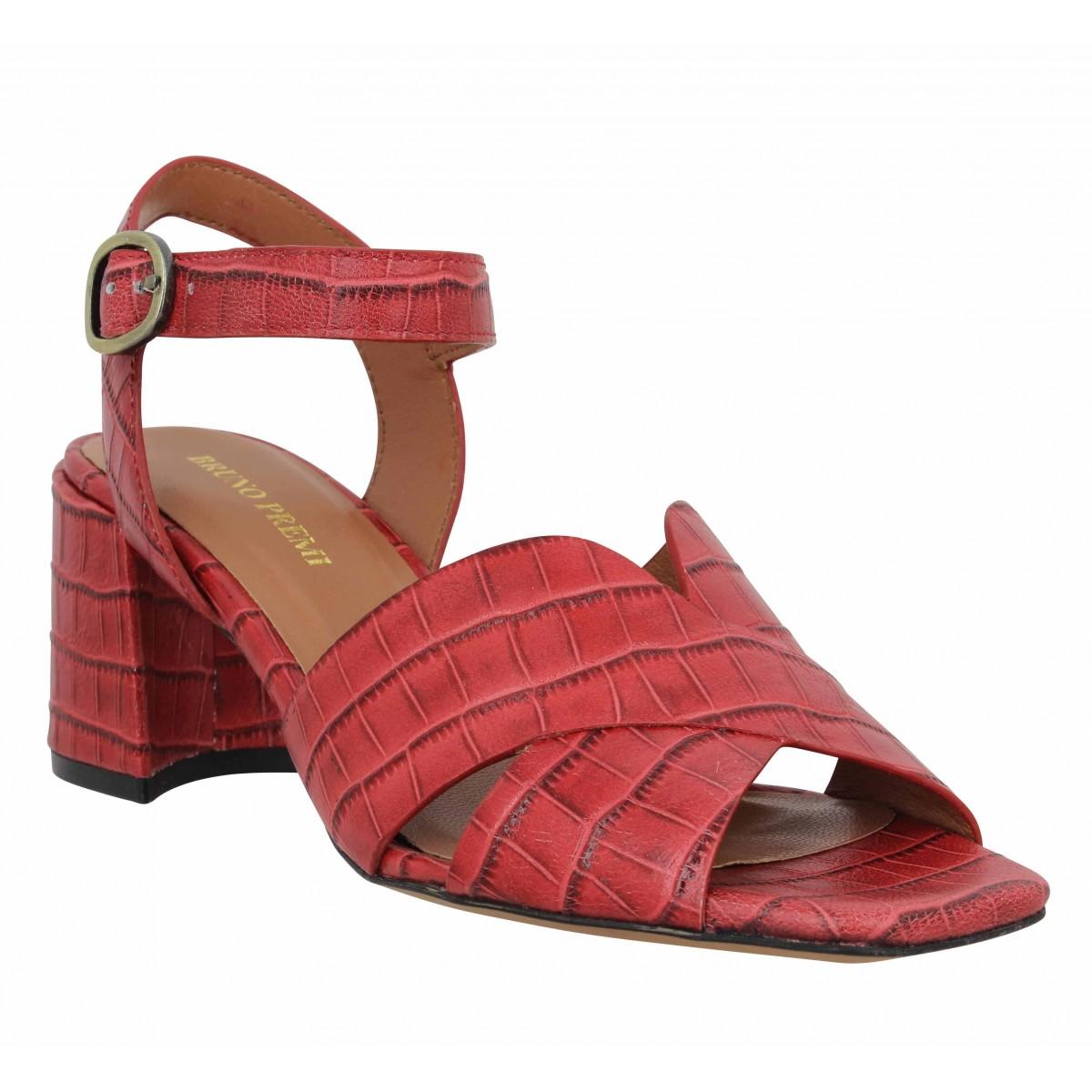 Sandales talons BRUNO PREMI 503 cuir Femme Rouge