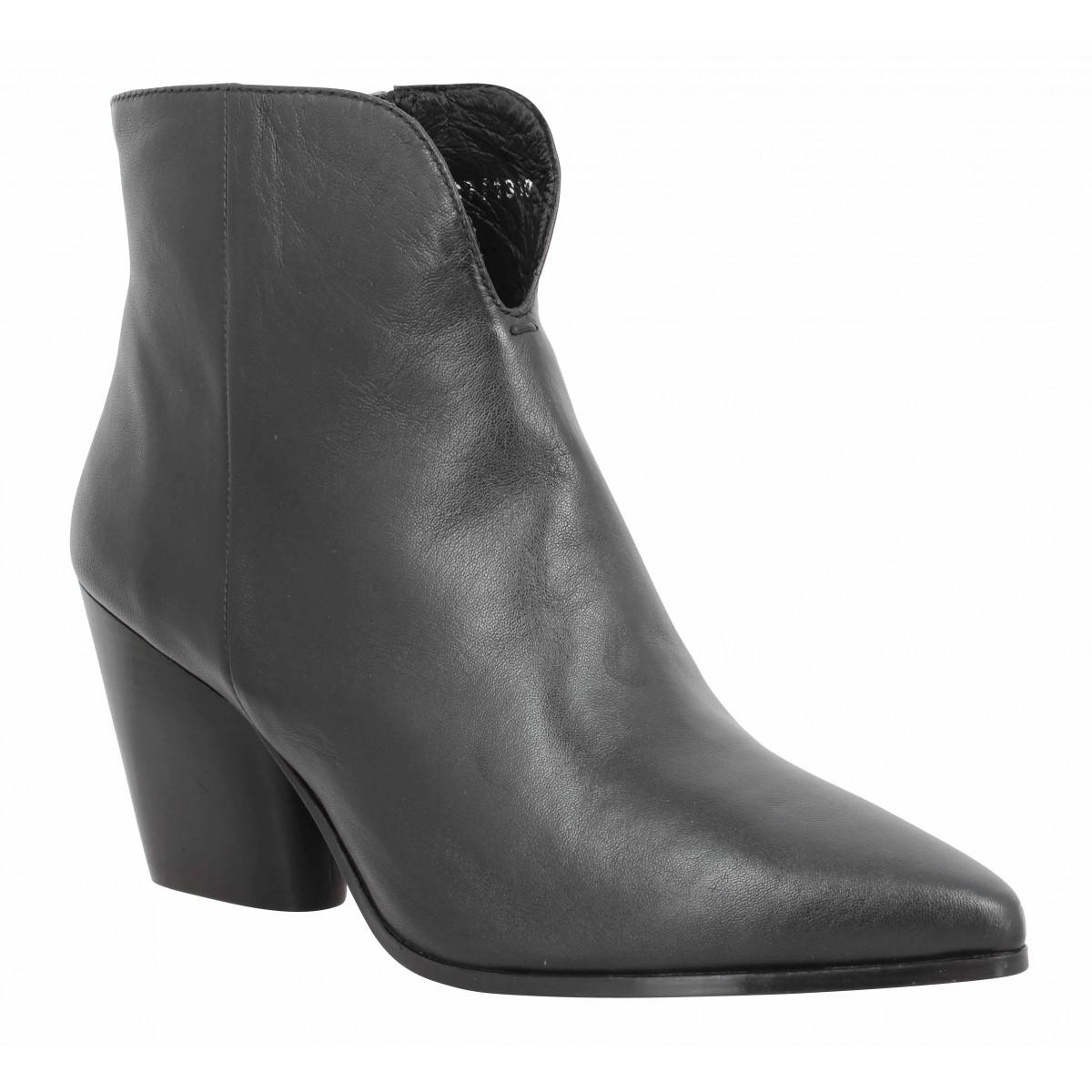 Bottines BRUNO PREMI 5620 cuir Femme Noir