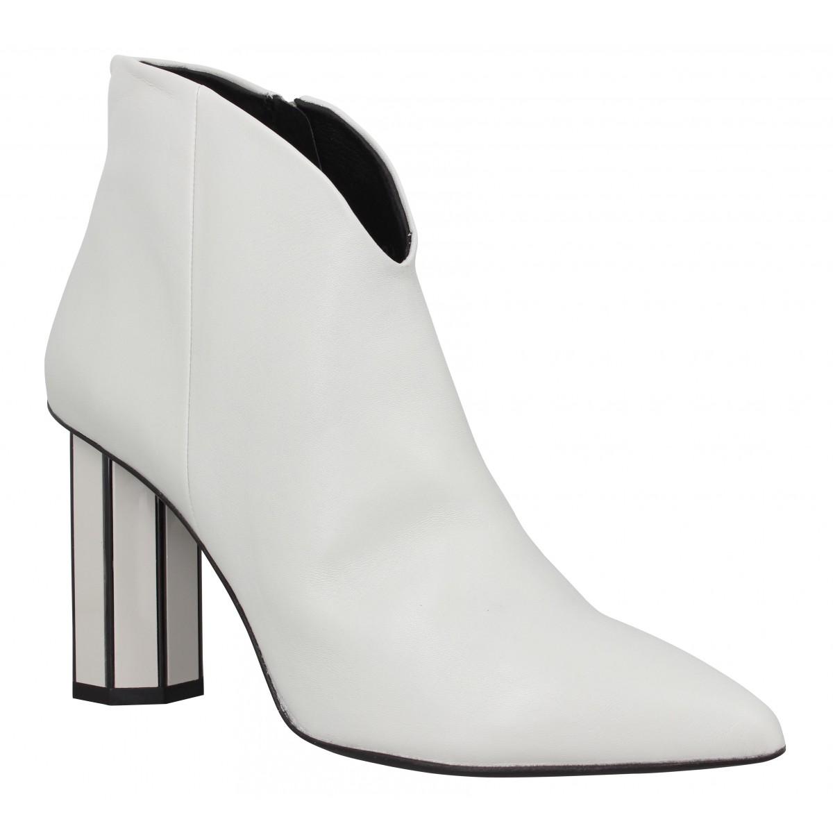 Bottines BRUNO PREMI 5901 cuir Femme Blanc