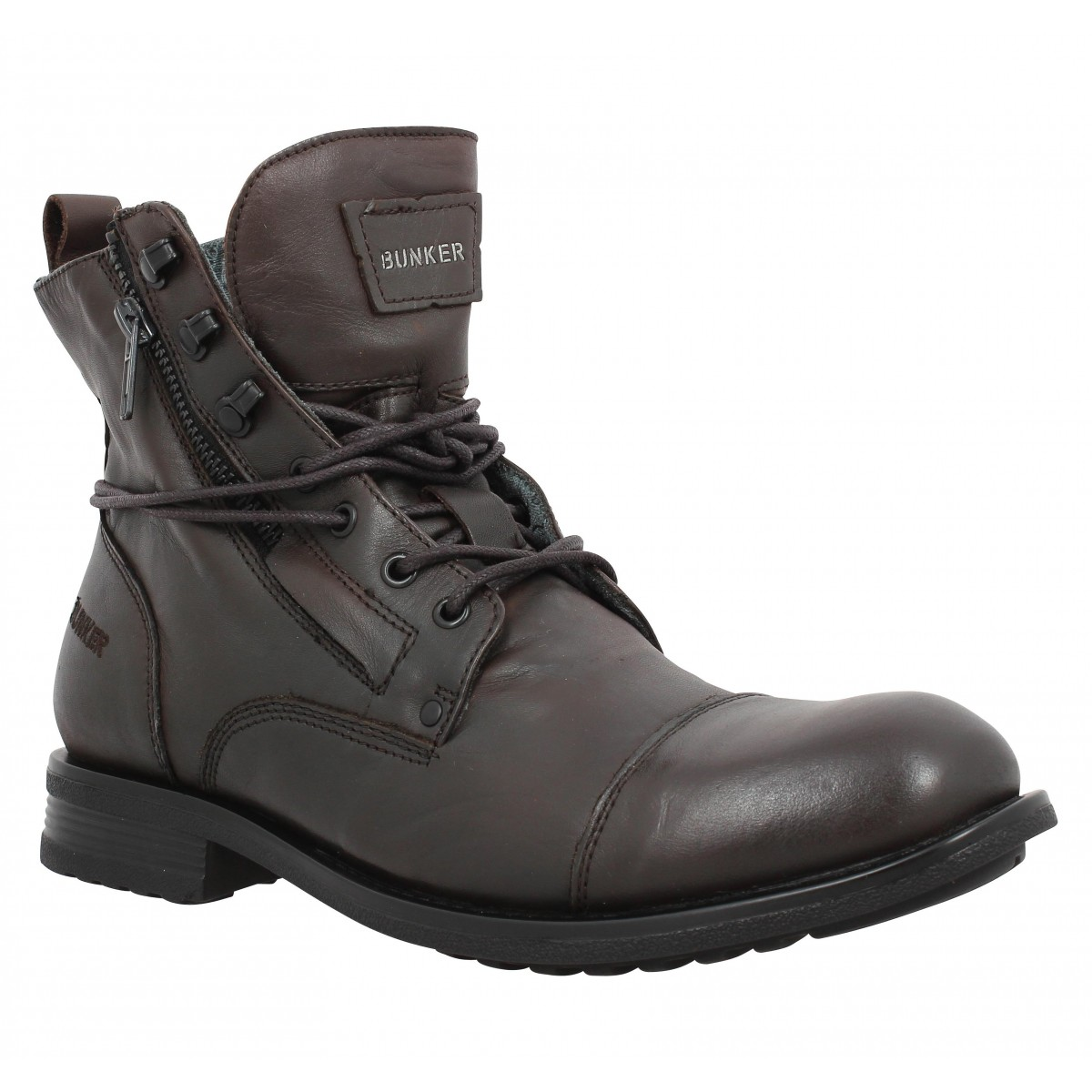 Bottines BUNKER Mido cuir Homme Marron
