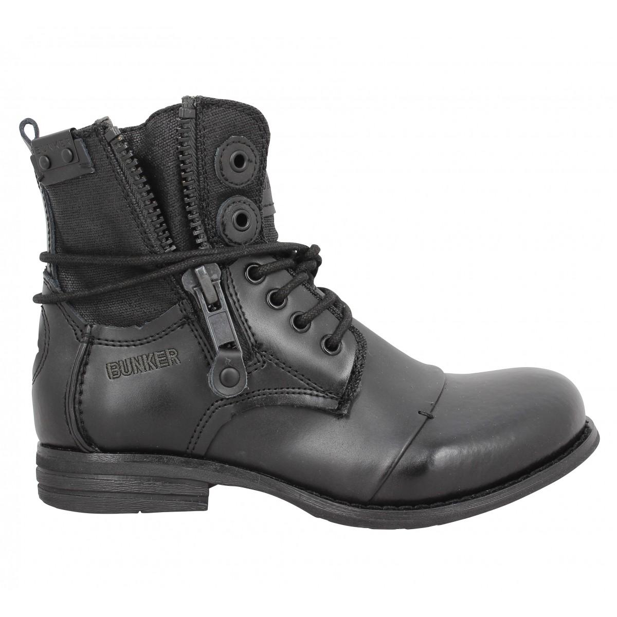 Bunker Homme Femme boots Meilleures Brandalley Noir Offres bunker kZuPXi