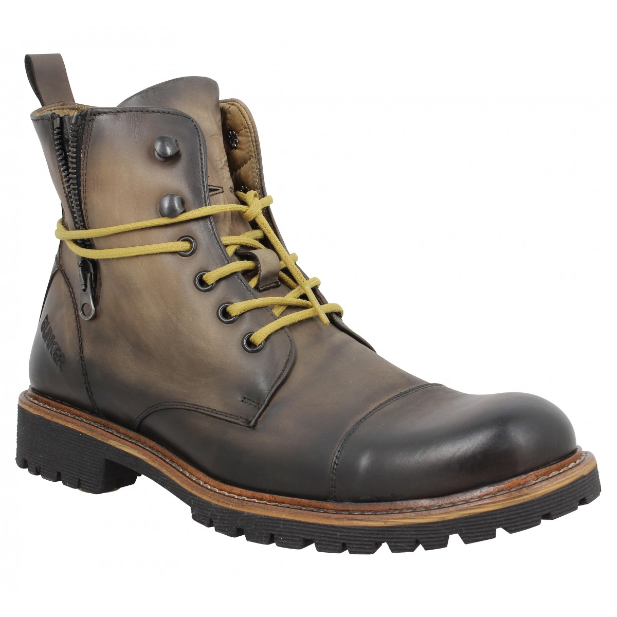 Bottines BUNKER Work Job Marron