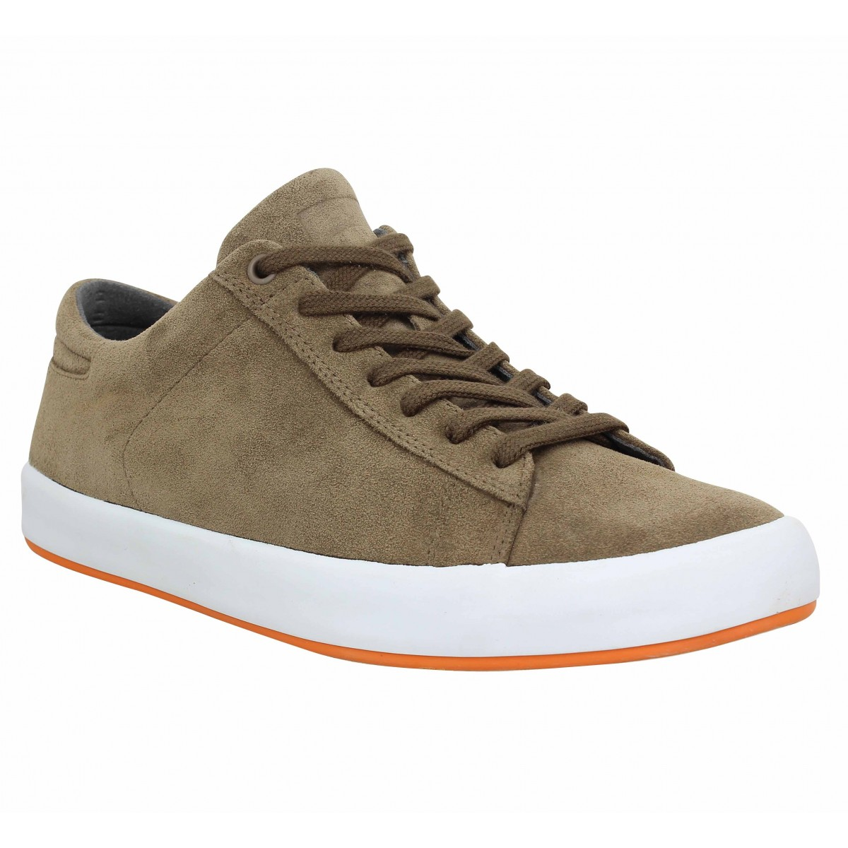 Baskets CAMPER Andratx velours Homme Taupe