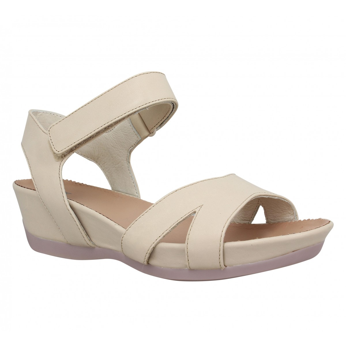 Sandales talons CAMPER Micro 20116 cuir Femme Beige