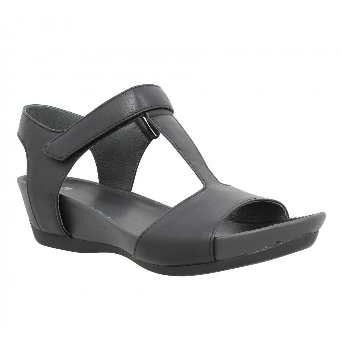 Sandales talons CAMPER Micro 20117 cuir Femme Noir
