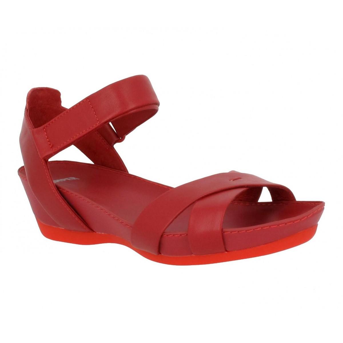 Sandales talons CAMPER Micro 21584 cuir Femme Rouge