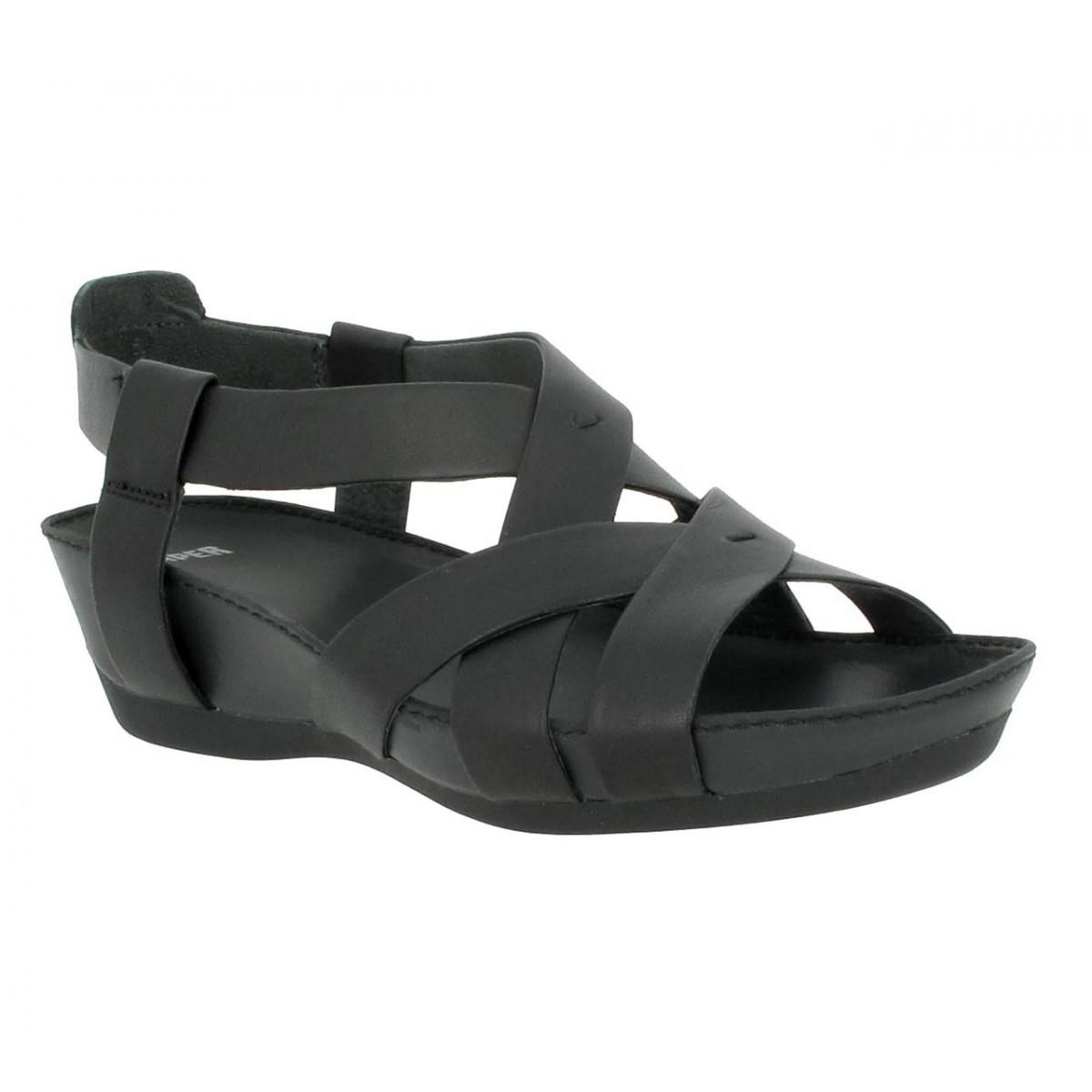 Sandales talons CAMPER Micro 21743 cuir Femme Noir