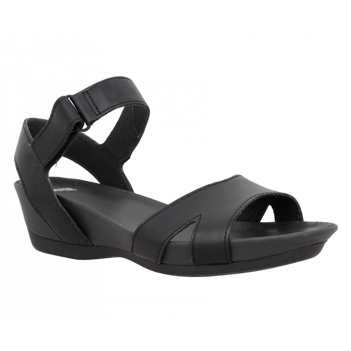 Sandales talons CAMPER Micro 22555 cuir Femme Noir