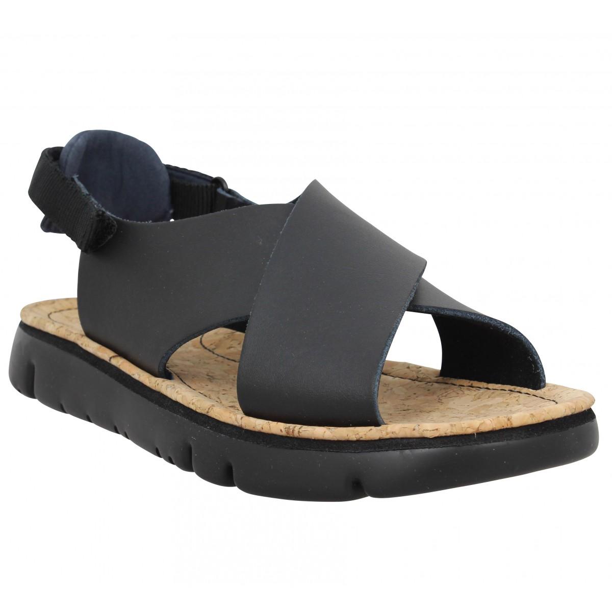 Camper Femme Oruga Sandal Cuir -37-noir