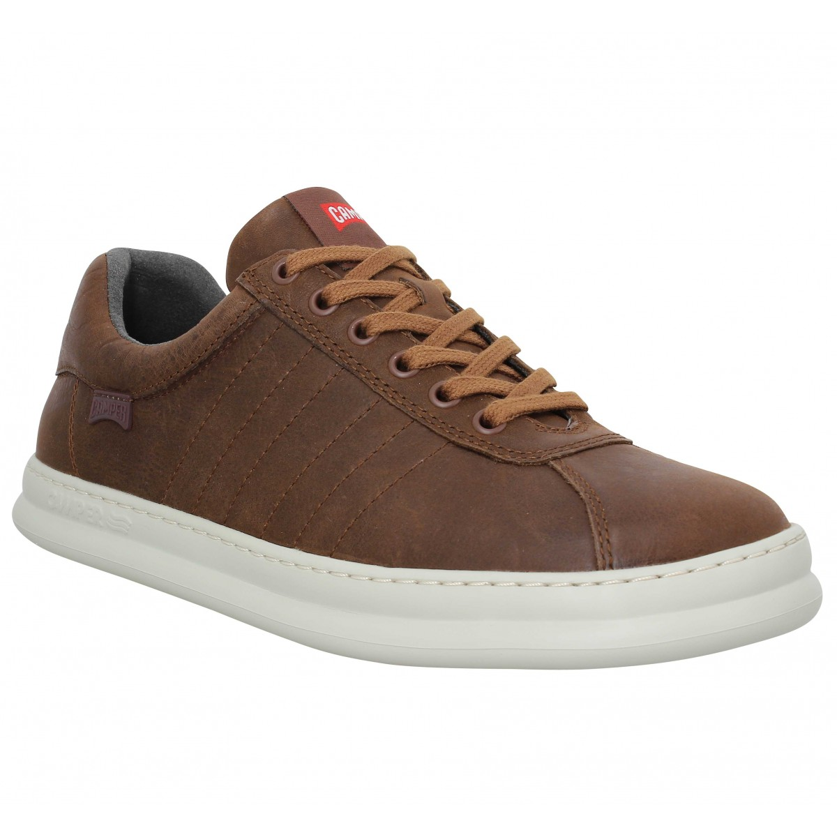 Baskets CAMPER Runner Four Lo cuir Homme Marron