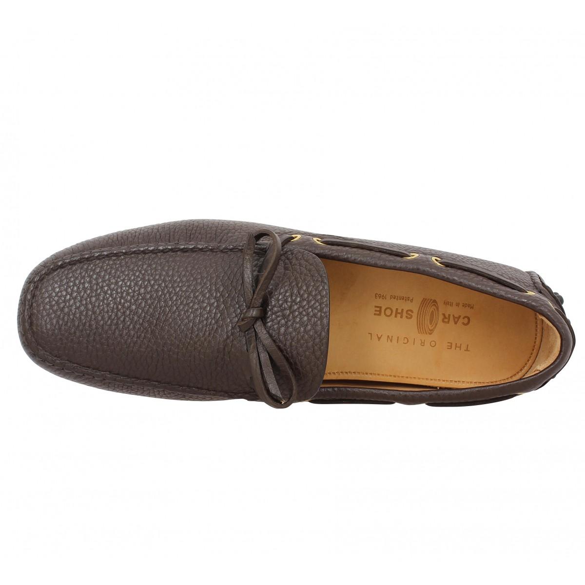 car shoe driving shoes cuir graine homme cafe homme fanny chaussures. Black Bedroom Furniture Sets. Home Design Ideas
