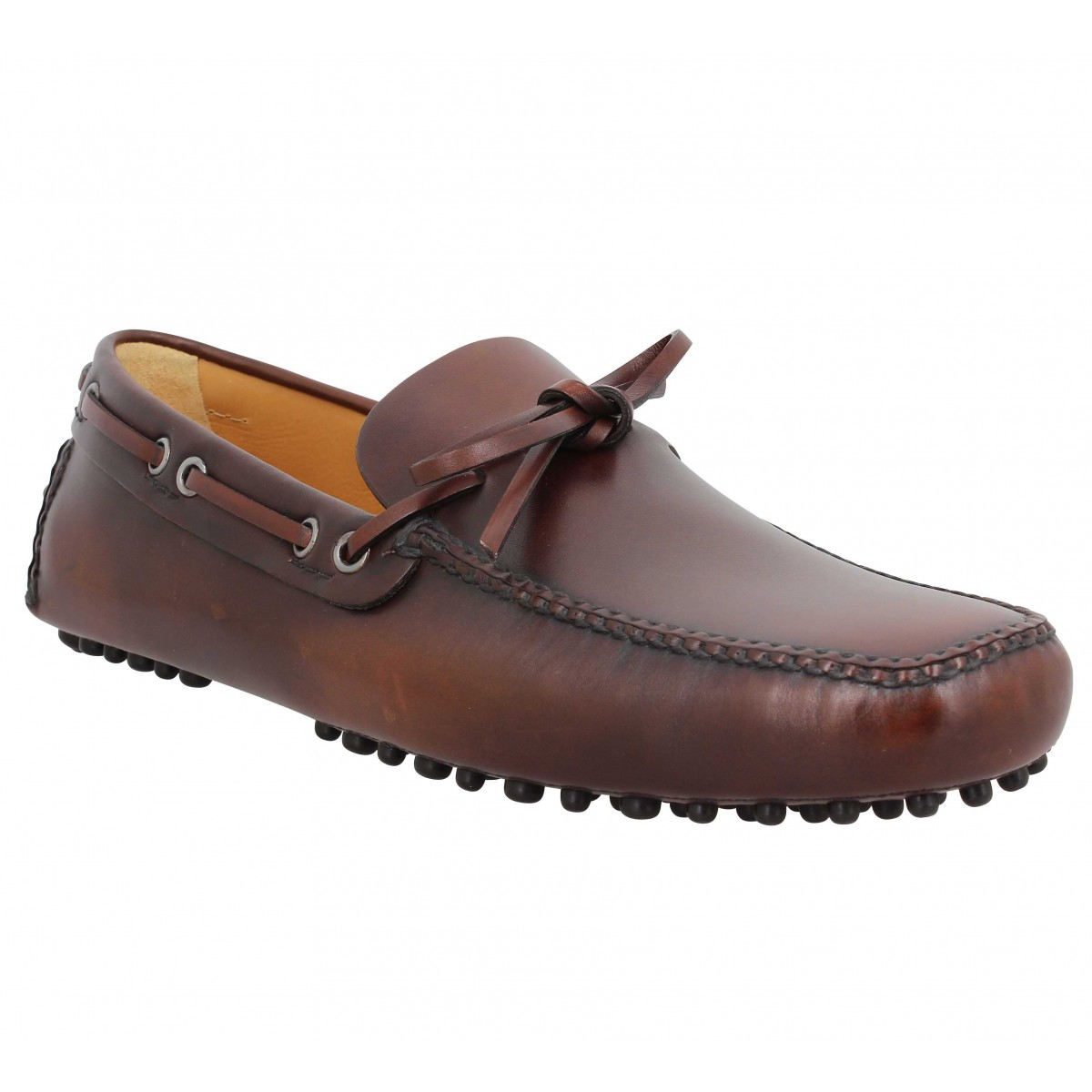 Mocassins CAR SHOE Driving Shoes cuir Homme Cognac