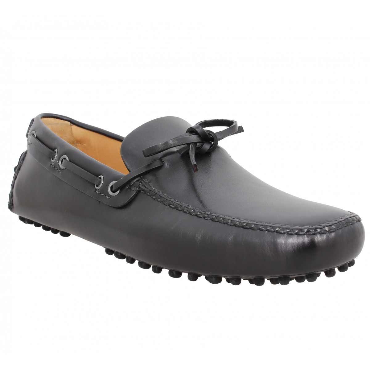 Mocassins CAR SHOE Driving Shoes cuir Homme Noir