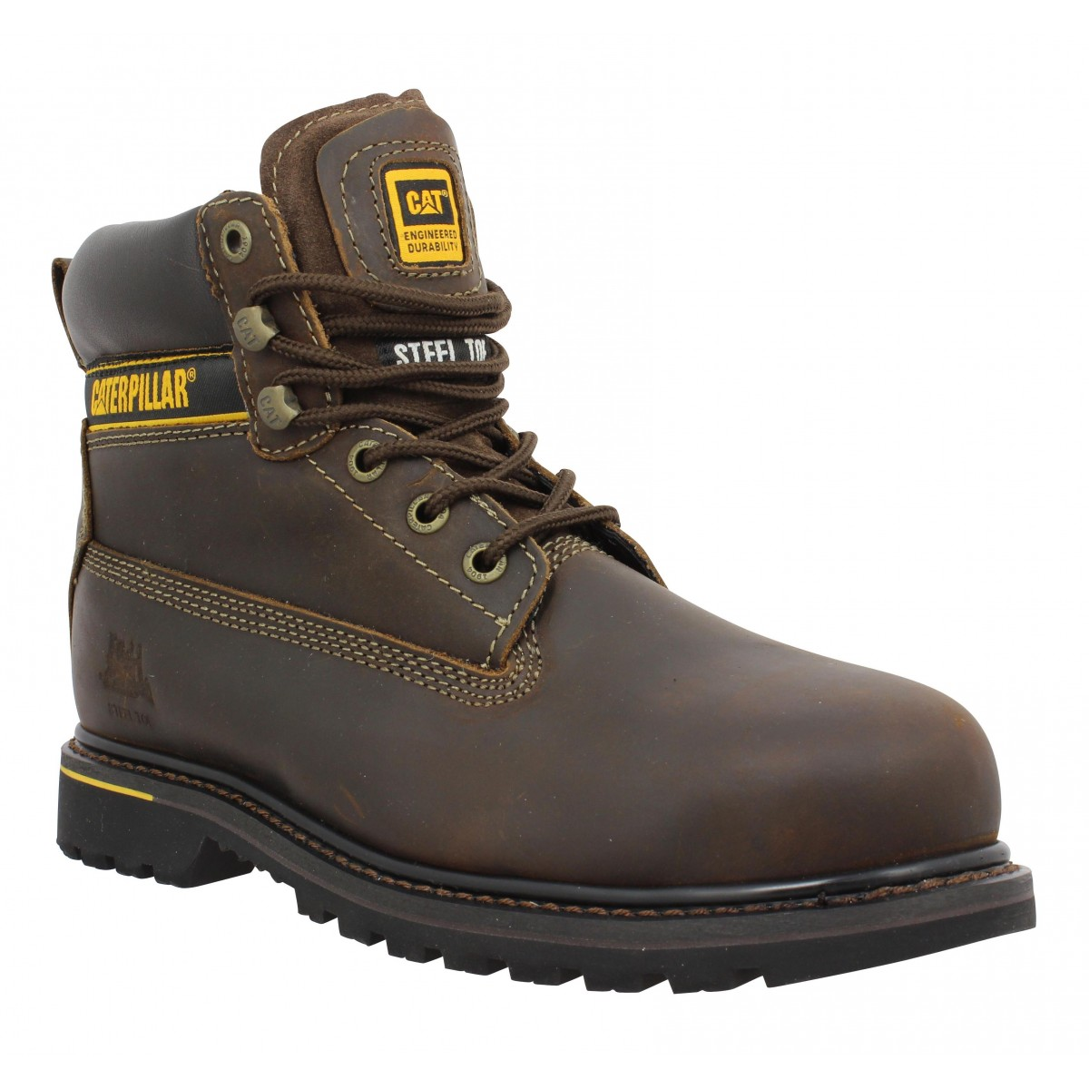 Caterpillar Homme Holton Cuir -41-marron...