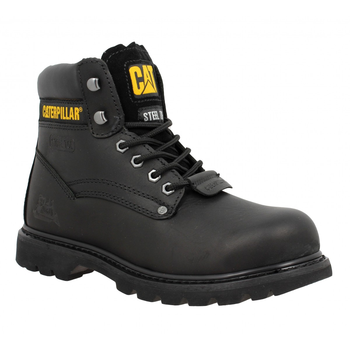 Bottines CATERPILLAR Sheffield cuir Homme Noir