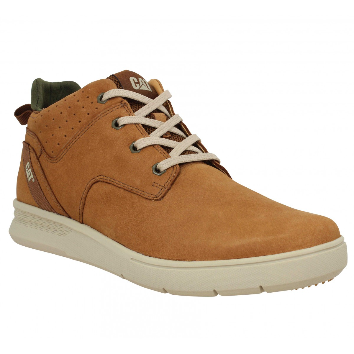 Baskets CATERPILLAR Warrant nubuck Homme Cognac