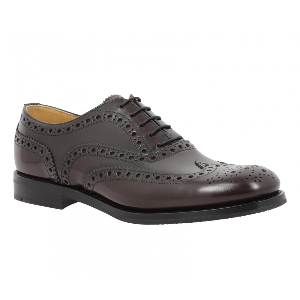 Chaussures à lacets CHURCH'S Burwood cuir Femme Ebony