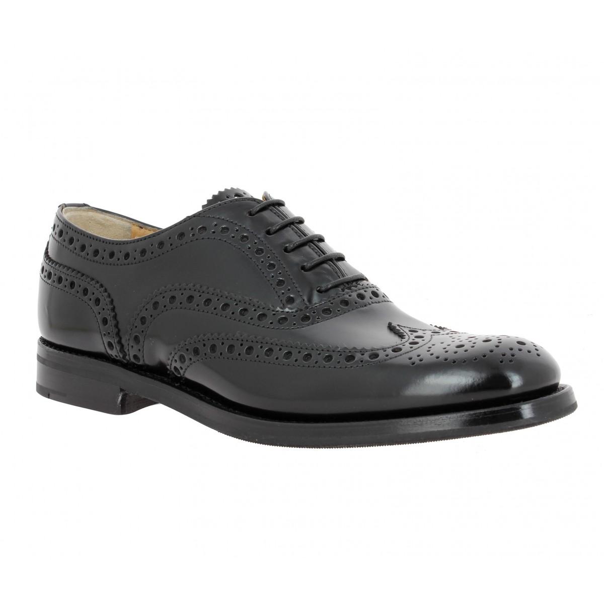 Chaussures à lacets CHURCH'S Burwood cuir Femme Noir