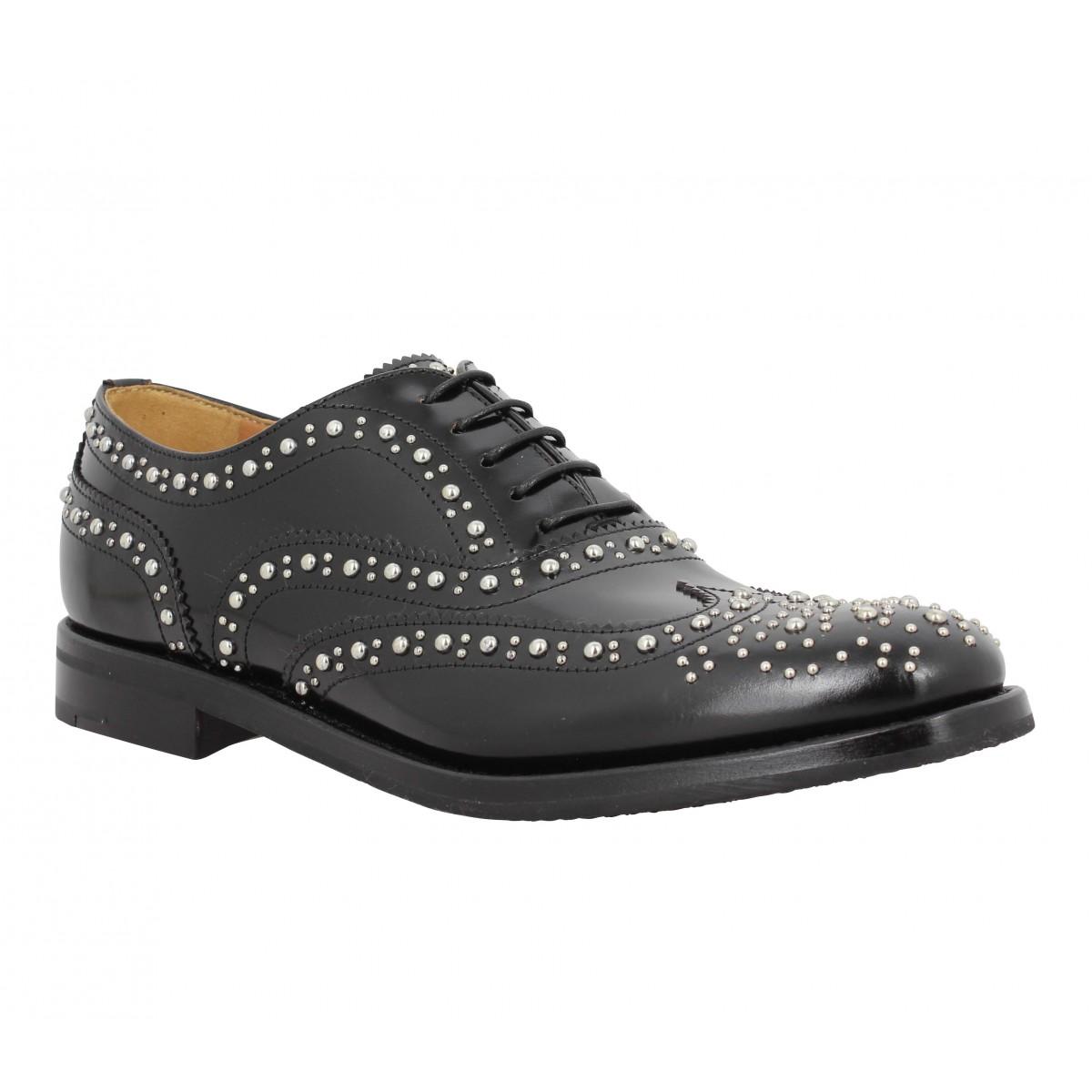Chaussures à lacets CHURCH'S Burwood Met cuir Femme Noir