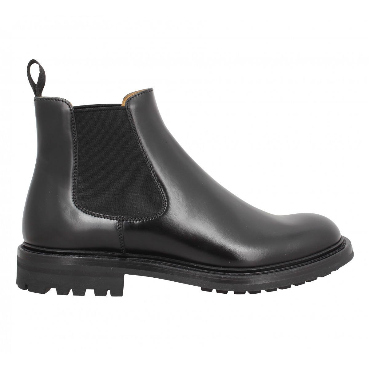 church s genie boot cuir noir femme | fanny chaussures