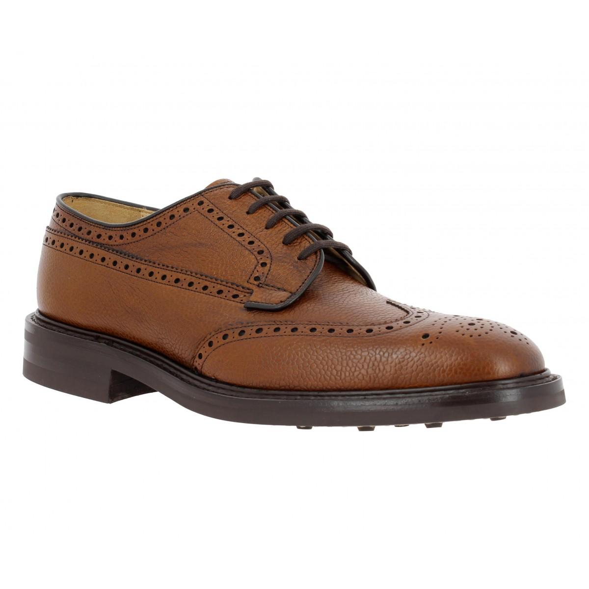 Chaussures à lacets CHURCH'S Grafton cuir graine Homme Cognac