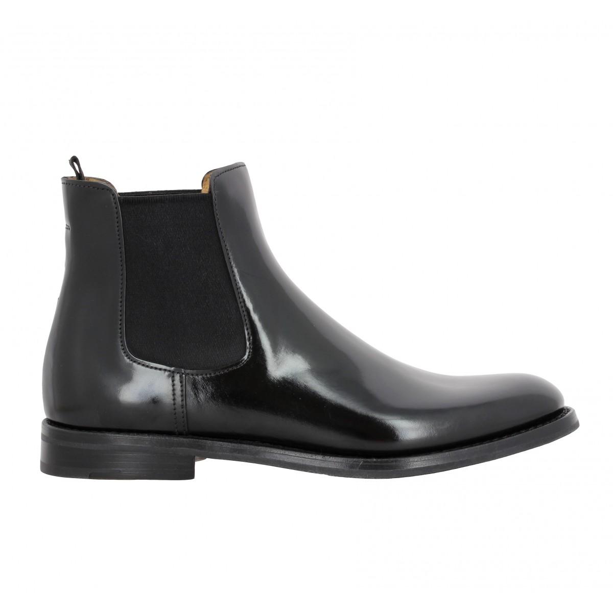 church s monmouth cuir femme cognac | fanny chaussures