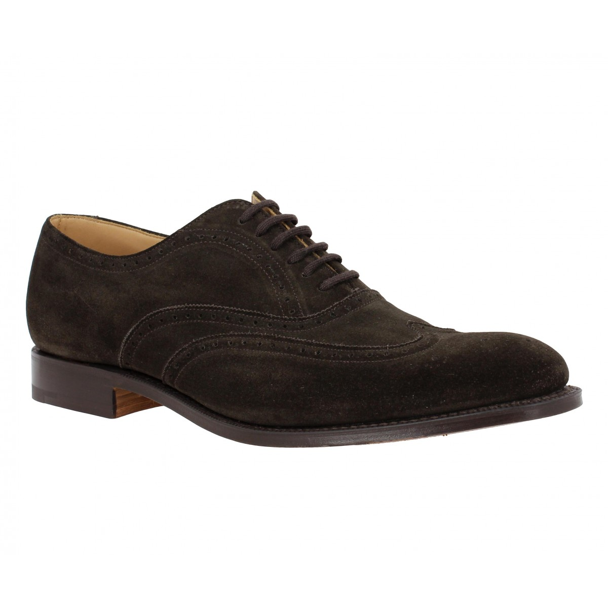 Chaussures à lacets CHURCH'S New York velours Homme Marron