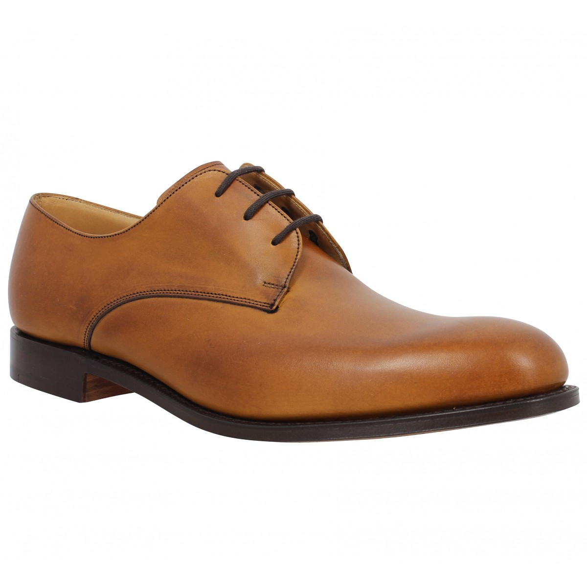 Chaussures à lacets CHURCH'S Oslo cuir Homme Chestnut