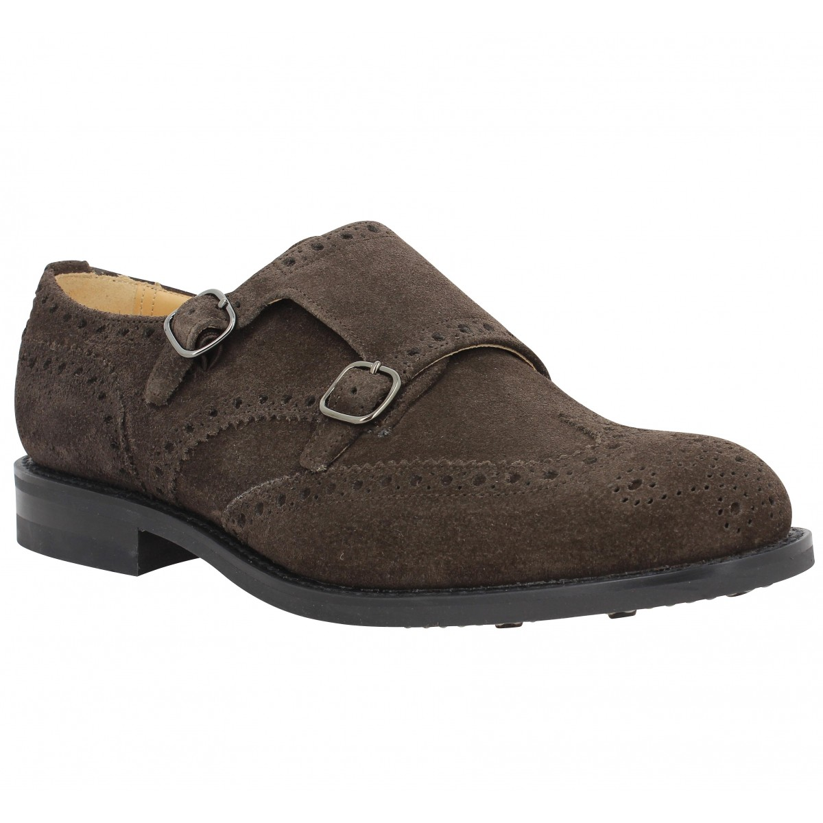 Chaussures à lacets CHURCH'S Seaforth velours Homme Ebony
