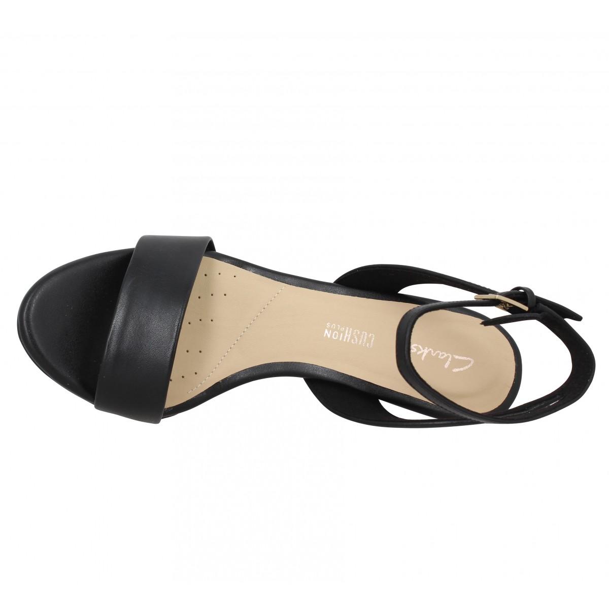 CLARKS Amali Jewel cuir Femme Noir