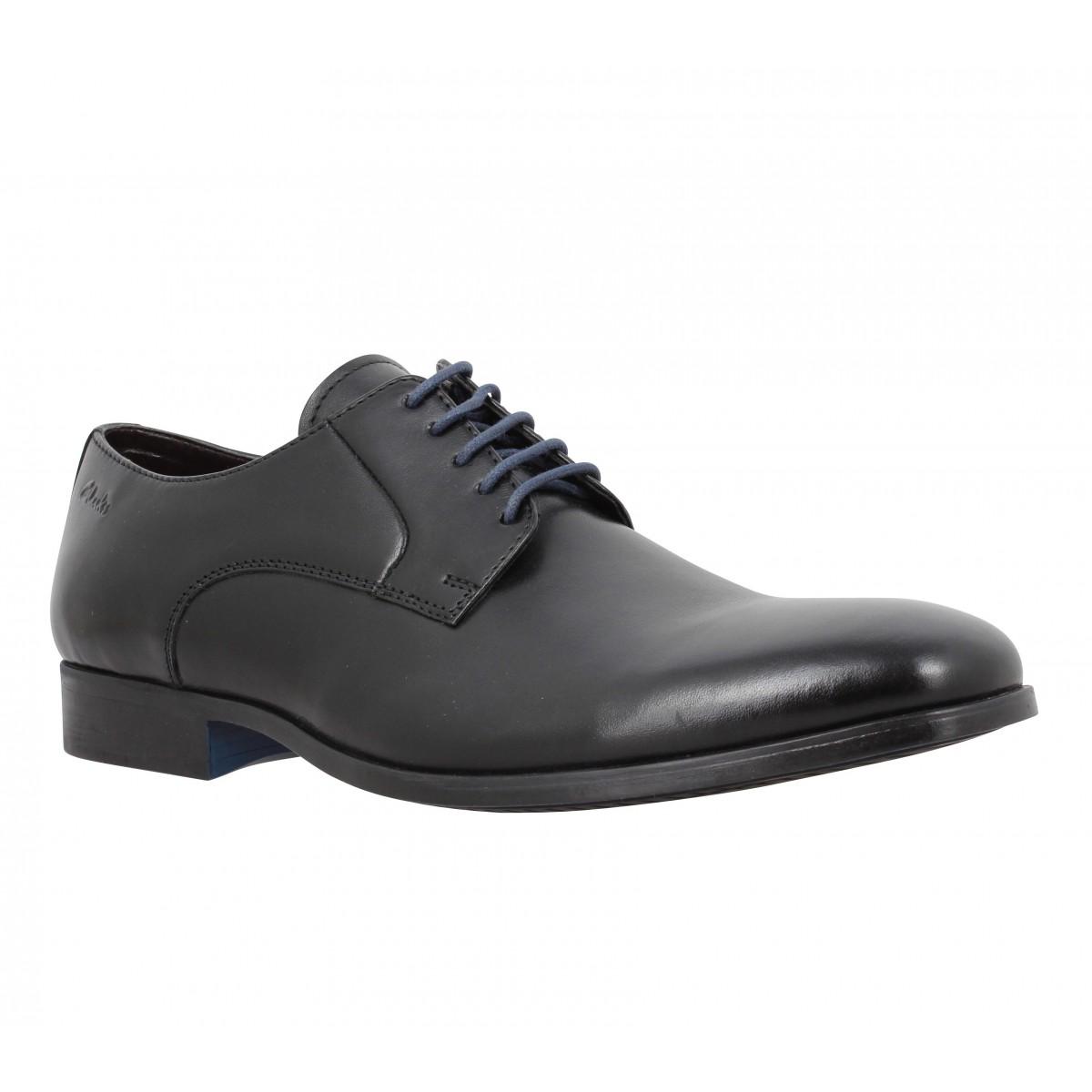 Chaussures à lacets CLARKS Banfield Walk cuir Homme Noir
