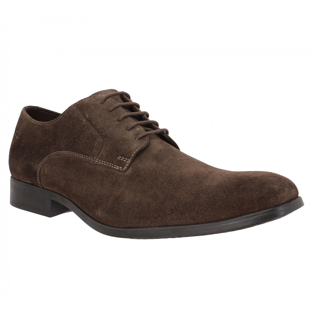 Chaussures à lacets CLARKS Banfield Walk velours Marron