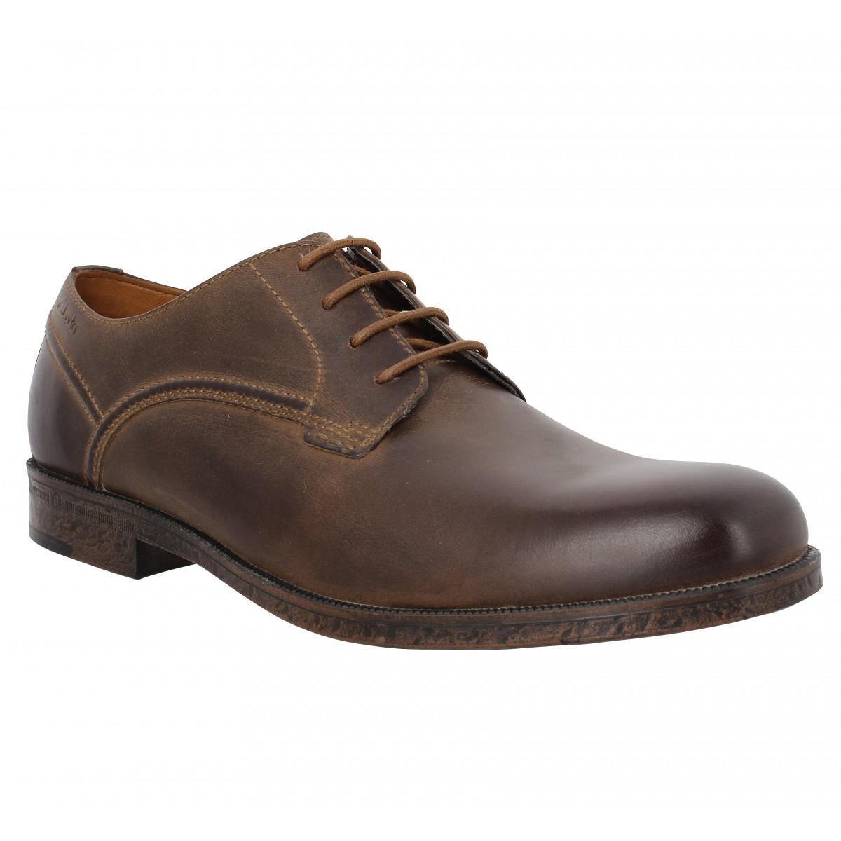 Chaussures à lacets CLARKS Brocton Walk cuir Marron