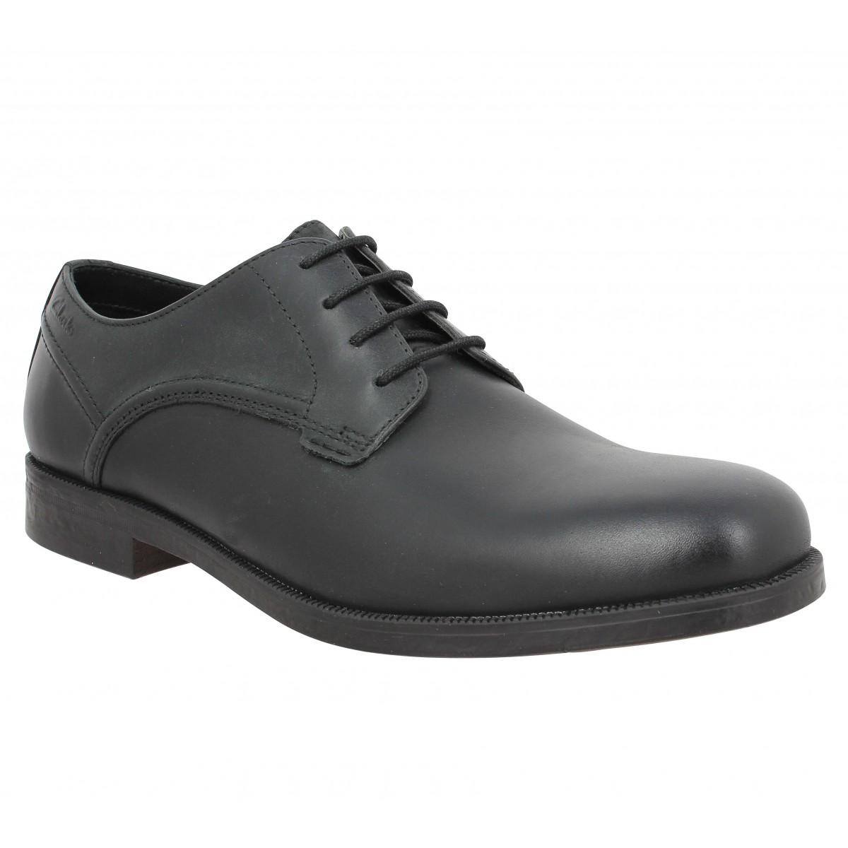 Chaussures à lacets CLARKS Brocton Walk cuir Noir