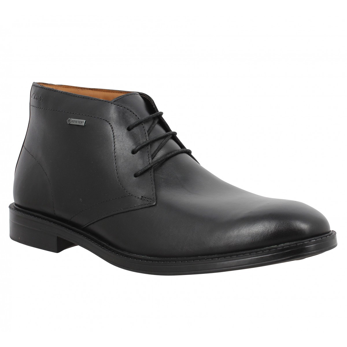 Bottines CLARKS Chilver Hi GTX cuir Noir