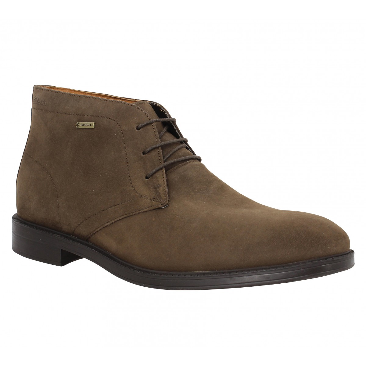 Bottines CLARKS Chilver Hi GTX nubuck Marron