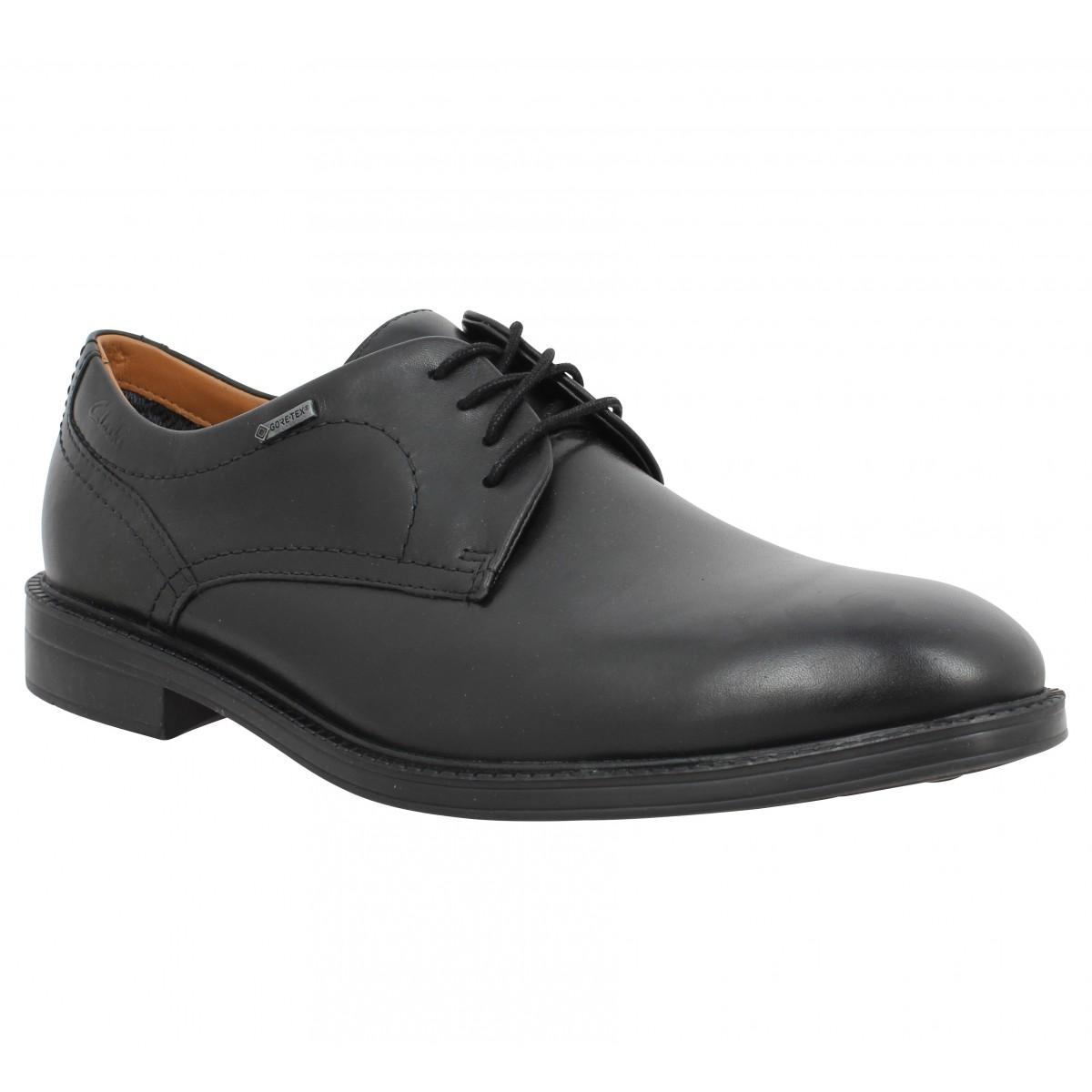 Chaussures à lacets CLARKS Chilver Walk GTX cuir Homme Noir