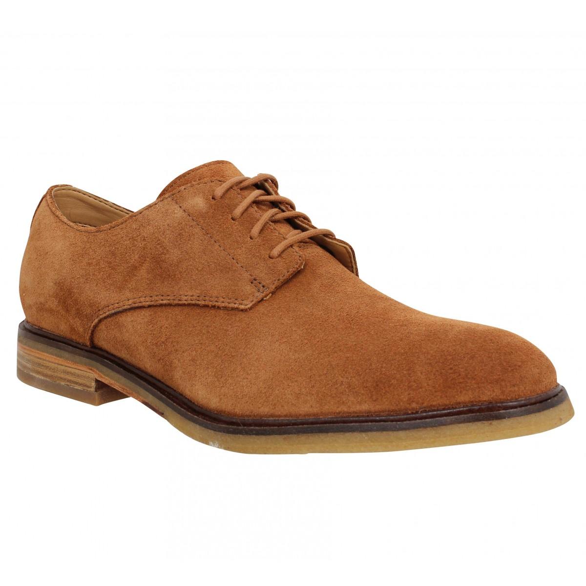 Chaussures à lacets CLARKS Clarkdale Moon velours Homme Marron